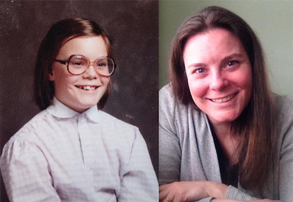 Me, then and now. We both want to be writers, we're both plagued by self-doubt, but the Now Me knows how short her one and precious life can be.